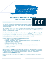 2016 Rules for Students and Teachers Draft