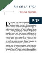Castoriadis, Cornelius -  Miseria de La Etica