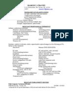 Jobswire.com Resume of CHAVEZ127