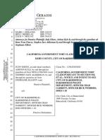 Jason Alderman Government Claim Against City of Bakersfield