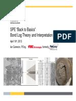 SPE Back to Basic - Bond Log Theory and Interpretation