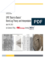 SPE Back to Basic - Bond Log Theory and Interpretation