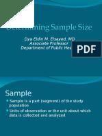 Determining Sample Size