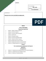 Proyecto de Ley Del Deporte de Andalucía