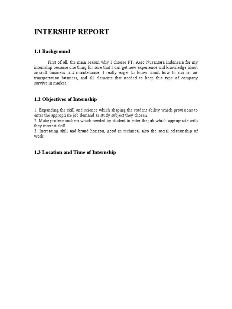 internship report   Nondestructive Testing   Aviation
