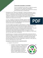 Plan Desarrollo Sustentable y Sostenible.