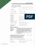 Starter Declaration Form