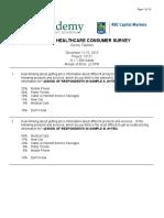 HMA/RBC Q4 National Consumer Healthcare Survey - The Behavior Issue