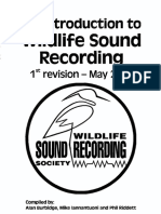 An Introduction to Wildlife Sound Recording