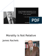 ethics - morality is not relative - james rachels lecture