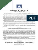 Empresas ICA 8.375% Sr Notes Due 2017 OM