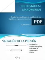 Hidrostática I Manómetros