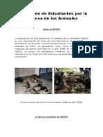 Agrupación de Estudiantes Por La Defensa de Los Animales