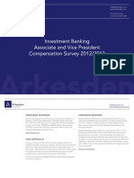 Arkesden Associate and Vice President Compensation Survey 2012-2013