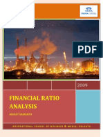 Financial Ratio Analysis, TATA STEEL
