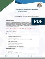 Elaboaración de Presupuestos de Perfiles y Expedientes Técnicos Con s10