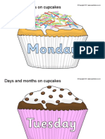 Days n Months on Cup Cakes