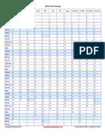 2016 Vertical Year Planner