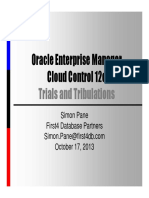 OEM Cloud Control 12c