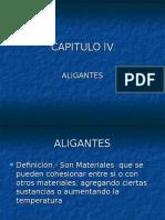 AGLOMERANTES - ALIGANTES - AGLUTINANTES