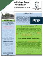 Newsletter - 11.30.2015