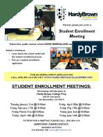 HBCP 2016-2017 Student Enrollment Meeting