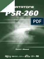Yamaha Keyboard PSR260 User Guide