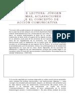 Guía de Lectura Jurgen Habermas_aclaraciones Sobre El Concepto de Acción Comunicativa