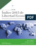 Indice 2015 de Libertad Economica. Pág. 3.