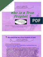 Who is a True Prophet
