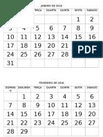 Calendários Creche 2016