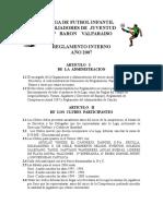 Reglamento de Juego Liga