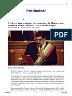 5 Claves Para Entender Los Anuncios de Maduro Por Anabella Abadi Barbara Lira y Daniel Ragua 1