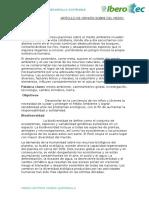 Artículo de Opinión Sobre Del Medio Ambiente