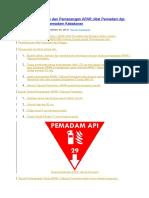 Syarat Penempatan dan Pemasangan APAR (Alat Pemadam Api Ringan) - Tabung Pemadam Kebakaran.docx