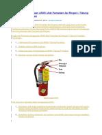 Tata Cara Penggunaan APAR (Alat Pemadam Api Ringan) - Tabung Pemadam Kebakaran.docx