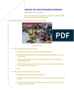 Faktor Penyebab Kebakaran Dan Upaya Pencegahan Kebakaran