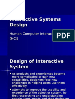Interactive Systems Design