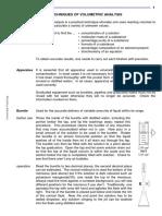 Technique of Volumetric Analysis