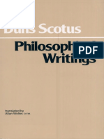 Duns Scotus, John - Philosophical Writings