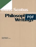 Duns Scotus, John - Philosophical Writings