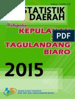 Statistik Daerah Kabupaten Kepulauan Siau Tagulandang Biaro 2015