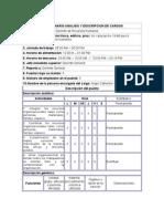 CUESTIONARIO ANALISIS Y DESCRIPCION DE CARGOS
