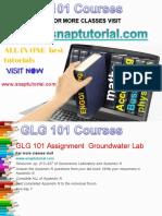 GLG 101 Academic Success /snaptutorial