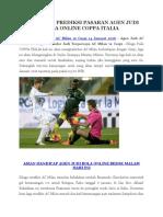 Dilaga Piala COPPA ITALIA Kali Ini Akan Menghadirkan AC Milan Berhadapan Dengan Carpi