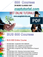 BUS 600 Apprentice tutors/ snaptutorial