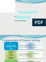 Presentation on use of fortran