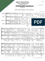 Mendelssohn 3 Motetten Op69