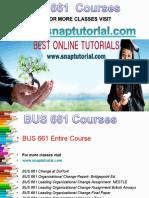 BUS 661 Apprentice tutors / snaptutorial