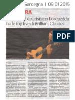 [ITA] - La Nuova Sardegna 09 Gennaio 2015